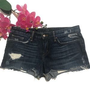 Joe's Cropped Ex-Lover Distressed Cut Off Shorts